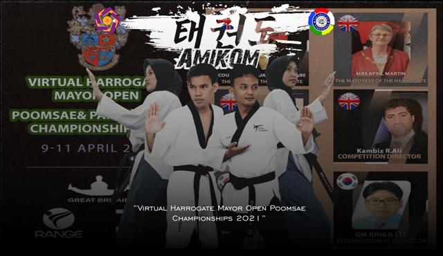 Taekwondo Amikom Berhasil Meraih Medali di Kejuaraan Virtual Harrogate Mayor Open Poomsae Championships 2021